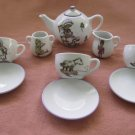 Child's Porcelain Tea Set, vintage   10 pieces
