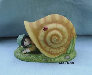 Franklin Mint, Fairy Tale Surprises Collection, 1986, Figurine, Tom Thumb and Snail House