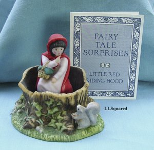 Franklin Mint, Fairy Tale Surprises Collection, 1986, Figurine, Red Riding Hood in Forest