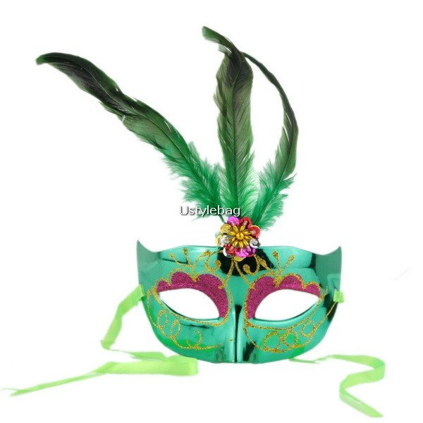 Birds Feather Glitter Eye Mask Dress-up for Masquerade Party Ball Halloween