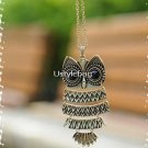 owl necklace Copper