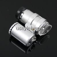 Mini sized 2-LED white light illuminated microscope