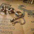 Vintage ring(3 pieces) bonus: necklace
