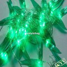 10M 80Led/pcs Green Leave String Light for Christmas Holiday and Party Decoration