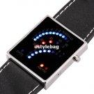 29 LED Blue&Red Light Digital Date Lady Men Wrist Watch