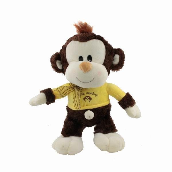 Lovely Plush Stuffed Little Monkey Doll Toy Animal Pet New