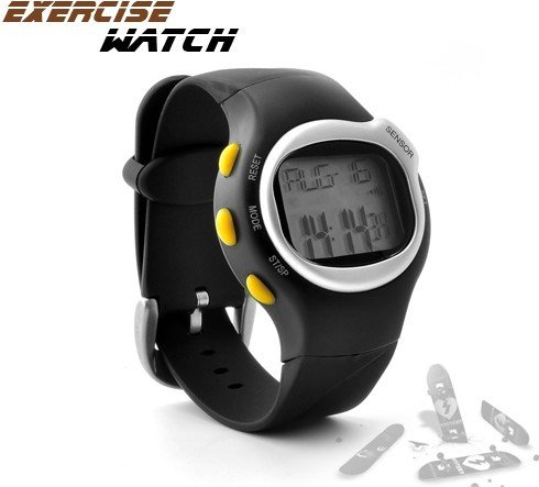 Sports Exercise Watch with Pulse + Calorie Reader