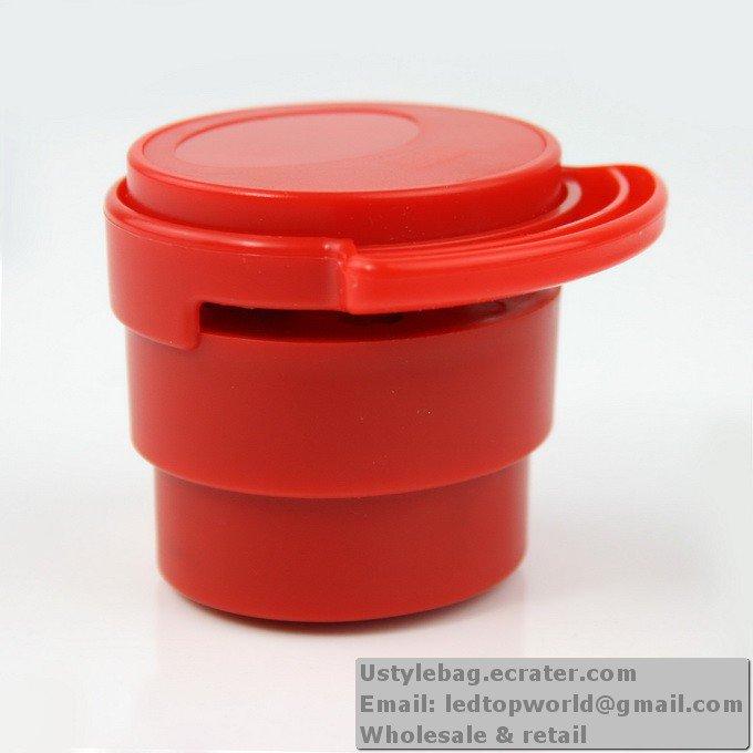 Red Eco-friendly Stapless Stapler Paperclip Staple New