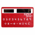 NEW Mini Slim Credit Card Solar Power Pocket Calculator