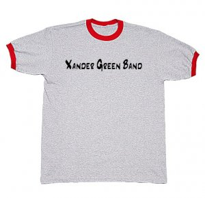Grey/Red Ringer T-Shirt