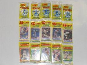 1990 SCORE Baseball Card Unopened Rack Packs - 48 Cards & 1 Glossy Print