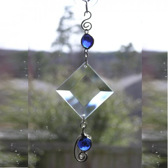 Suncatcher Sapphire Blue Gems and Bevel