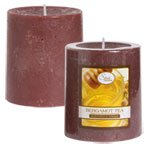 Luminessence Bergamot Tea Pillar Candles, 2�""