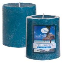 """Luminessence Ocean Breeze Pillar Candles, 2�"""""""