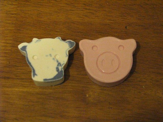 Cow & Pig Soap Set