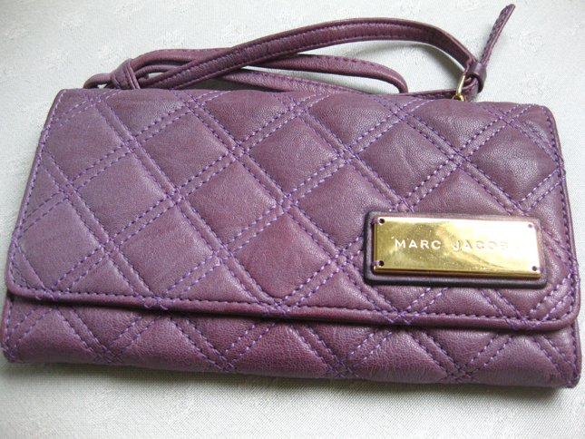Marc Jacobs Quilted Plum Wristlet