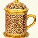 Golden Luxury Thai Pattern Mug