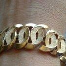 Vintage Jewelry 3/4inch Wide Gold Crown Trifari Bracelet