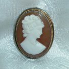 Elegant Vintage Early 1900s Marked Silver Cameo Pendant / Brooch - FREE SHIPPING