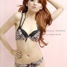 Wild Zebra Pink Lace Convertible Bikini Bra Set 32B 70
