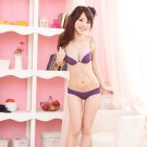 Purple Lace T-Shirt Bra Set Seamless Convertible 34B 75