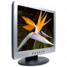 "19"" Amptron TFT LCD DVI/VGA Monitor w/Speakers (Sil & Blk) - NEW"