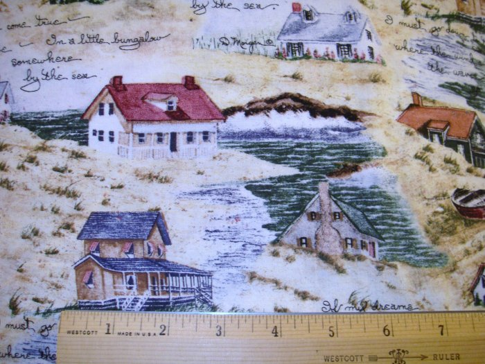 1 yard -  Naturally By the Sea fabric