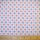 1 yard -  Plant a Garden Coordinate fabric - Pink and Blue Flowers on White - Sue Dreamer
