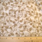 1 yard -  Cranston Print Works fabric by Leslie Beck - Tan Vines on beige background