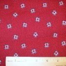 1 yard -  South Seas Imports - Debbie Mumm - Red fabric with quilt block tossed all over