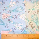 1 yard -  Dresses Tossed - Snuggle Flannel fabric