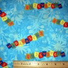 1 yard -  Madagascar movie fabric - Title Tossed all over