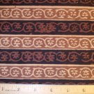 1 yard -  Batik - Brown and Tan Design fabric