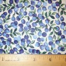 1 yard -  Blue and Perinkle Berries with Green Vines - Cranston Collection