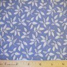 1.33 yard - Pale Blue with White Leaf Accents on fabric