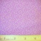 1 yard -  Tiny purple flowers on purple background fabric - Coordinate