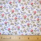 1 yard -  Marcus Brothers Textiles - Faye Liverman Burgos - Pink and purple flowers on white
