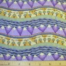 1 yard - Debbie Mumm - America! America! - Stripe with purple mountains fabric - OUT OF PRINT