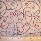 1 yard - Debbie Mumm - Needles and Threads - Tan background fabric with threads all over