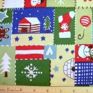 3/4 yard - Sparkly Christmas Patches Fabric