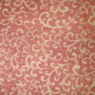 3/4 yard - Light orange swirls all over pumpkin orange fabric
