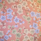 1 yard - Asian Look cherry blossom branches with sage green, light blue and tan flowers all over