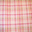 1 yard - Pink, green, yellow and white plaid fabric