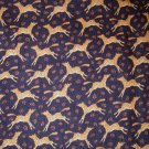 1 yard - Cranston Print Works - Black fabric with rush accents and tan zebras all over