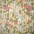 1 yard - Northcott - Yellow stripe with pink flowers - Thimbleberries - OUT OF PRINT