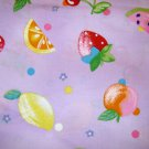 1 yard - Juicy fruit on lavendar fabric