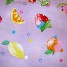 1.5 yard - Juicy fruit on lavendar fabric
