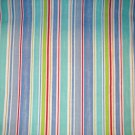 1 yard - Blue, purple, aqua, red stripe