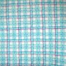 30 inches - Aqua plaid fabric