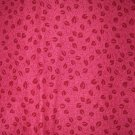 1.33 yards - Pink Red fabric with leaf design